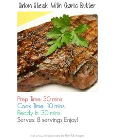 Sirloin Steak With Garlic Butter Recipe