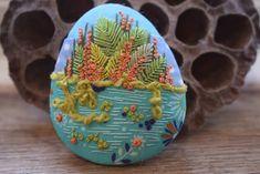 Dotty Textiles: Stitchscape Pebbles Textile Art, Felt, Textiles, Ideas, Felting, Cloths, Fabrics