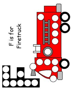 Firetruck Magnet page Fall Preschool, Preschool Themes, Preschool Learning, Preschool Activities, Community Helpers Activities, Name Activities, Letter F Craft, Fireman Crafts, Fire Truck Craft