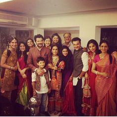 kapoors diwali 2013 . Boney, Anil and Sanjay Kapoor with their family.