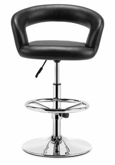 Zuo Modern Flute Barstool, Black by zuo. $318.99. Available in black, white, and green; basic home assembly required. Sophisticated and sleek barstool from Zuo Modern. Washable leatherette seat cushion and back; chrome-plated steel frame with adjustable foot rest. Measures 21-3/4 inches wide by 17 inches deep by 30-1/2 to 40-1/2 inches high; limited 1-year warranty. Hydraulic piston base for 23-inch to 33-inch seat height; 21-3/4-by-14-1/2-inch seat swivels 360...