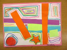 A Little Overlapping and Line Practice with Kindergarten