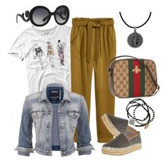 """cool!!"" by carla1509 on Polyvore featuring Abercrombie & Fitch, H&M, maurices, Steve Madden, Gucci, Feather & Stone, Carolina Glamour Collection and Prada"