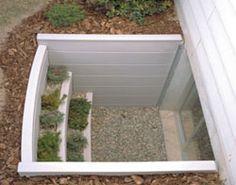 basement window wells- planters