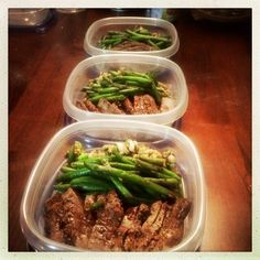 Top Sirloin preps with Black Bean Garlic Green beans and a lentil mix. by @MyDeliciousBliss on Instagram