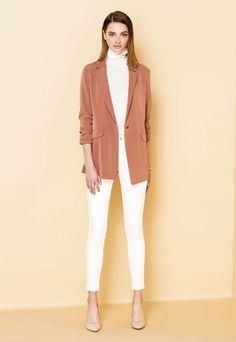 Add a trendy & elegant touch to your outfit with our Drape Long Jacket.