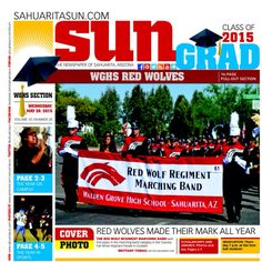 Walden Grove Grad paper Wednesday in the Sahuarita Sun.  See more at www.sahuaritasun.com #sahuaritalife #WGHS2015