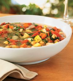 Slow-Cooker Minestrone Soup Recipe - Food and Recipes - Mother Earth Living