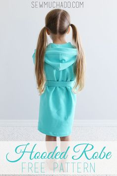 Sewing For Kids Clothes Child's Hooded Robe Free Pattern! Need to make one for swimming! - Sew a child's robe with this Hooded Robe Free Pattern! Sized your little one will love to cuddle up in his or her new cozy robe! Kids Patterns, Sewing Patterns Free, Free Sewing, Clothing Patterns, Sewing Tutorials, Sewing Ideas, Sewing Projects For Kids, Sewing For Kids, Baby Sewing