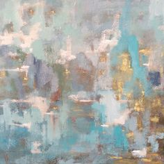 """Laura Park, """"Sea Glass"""" 40x40 - Gregg Irby Gallery"""