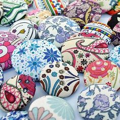 Liberty Print covered buttons by SewSister at Not on the High Street