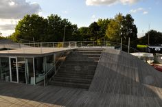 In one part of the Maritime Youth House the stairs are larger and allow it to be used like an amphitheatre.