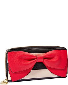 BOW REGARD ZIP AROUND WALLET BLACK-WHITE | Get paid up to 10.6% Cashback when you shop at Betsey Johnson with your DubLi membership. Not a member? Sign up for FREE at www.downrightdealz.net