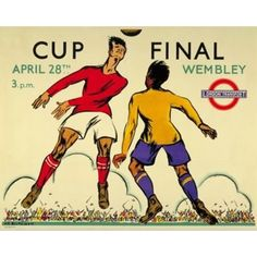 'Cup Final' 1934 football Poster