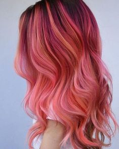 Pink flamingo hair new hair в 2019 г. hair color pink, hair и Hair Color Shades, Hair Color Pink, Hair Dye Colors, Cool Hair Color, Pink Hair Tips, Hair Styles 2016, Medium Hair Styles, Curly Hair Styles, Long Hairstyles