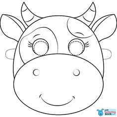 Free printable coloring pages Cow Mask Coloring Page Printable Cow Mask, Printable Animal Masks, Printable Crafts, Free Printable Coloring Pages, Coloring Pages For Kids, Coloring Books, Free Coloring, Coloring Sheets, Animal Masks For Kids