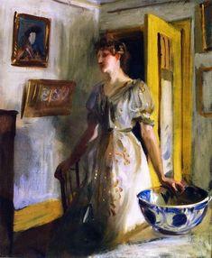 The Blue Bowl   John Singer Sargent   oil painting #OilPaintingPortrait