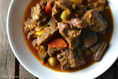 Carne guisada is like a warm belly hug, full of deliciously tender meat, potatoes, carrots & plenty of Latin spices. Get this authentic Puerto Rican recipe!