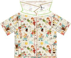 free shirt pattern and tutorial, 9 months - 2 years