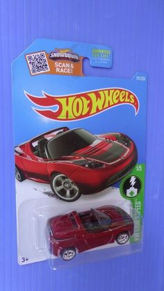 2016 Hot Wheels Super Treasure Hunt Tesla Roadster Real Riders #HotWheels