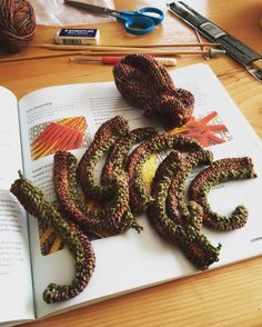 The latest octopus in my knitting queue may just get finished today! Then I'll be able to mail out a marine life trip to BBB and V! #hansigurumi #knitting #lionbrandyarn #malabrigoyarn