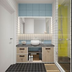 Industrial Russian Interior With Quirky Colour Twists (Including Floor Plans)