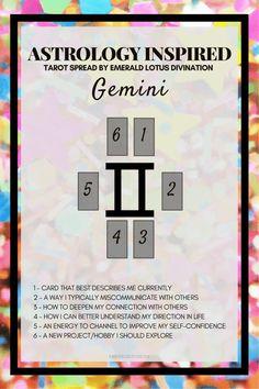 Gemini inspired tarot spread! For more tarot spreads visit: www.emeraldlotus.ca