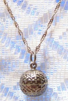 Vintage Sterling Silver Harmony Ball Pendant by ViksVintageJewelry, $39.99