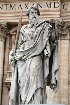 Statue of St. Paul, St. Peter's Square, Rome