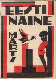 AVANT-GARDE Cover Agu Peerna EESTI NAINE No.3 1935 ILLUSTRATED Magazine ESTONIA | eBay