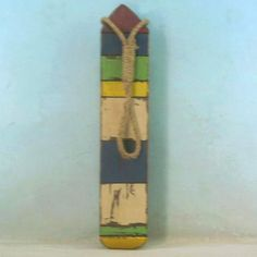 Wooden Thin Multi-Color Buoy 25""