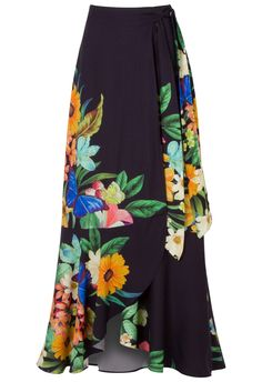 Encontre just-in-roupas-saias-longa FARM - Saia longa floreando - preta - OQVestir Modest Fashion, Boho Fashion, Girl Fashion, Fashion Outfits, Womens Fashion, Fashion Design, Skirt Outfits, Dress Skirt, Cool Outfits