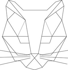 cat geometric made illustrator