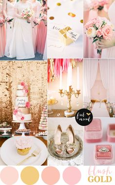 Pair blush and gold for a classic wedding color palette. | Mary Kay