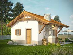 DOM.PL™ - Projekt domu KR DOMEK 6 CE - DOM KR5-83 - gotowy koszt budowy Gazebo, Pergola, Design Case, Home Fashion, Design Your Own, Beautiful Homes, Shed, Floor Plans, Minimalist