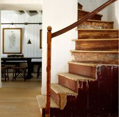 Stairs fascinate me. Especially ones in old houses, they have an untold story. I like how these are tired and shabby looking.