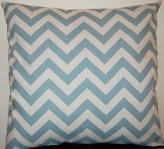 Chevron Decorative Pillows Blue Accent Pillows by FestiveHomeDecor, $32.00