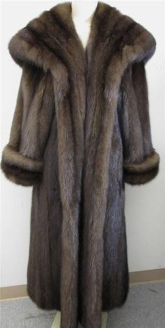 "YES TO ELEGANCE! A Barguzin Russian Sable Fur Coat 50"" LONG val $160K SZ 8-10 A+ #BarguzinRussianSable #FullLengthCoatwFullHood"