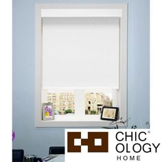 Chicology Free-Stop Cordless Roller Shade Privacy Fabric Thermal Mountain Snow 23-inch x 64-inch ) | Overstock.com Shopping - The Best Deals on Blinds & Shades
