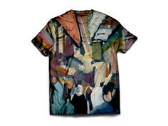 Iranian Bus by Kevin Hosseini. Unisex cotton t-shirt. More style options available. You can find this and more awesome art at wearelions.org! Each purchase funds autism acceptance and awareness! #wearelions #roarloud