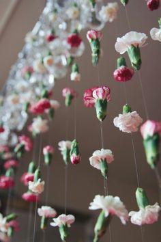 DIY schwebende Blumen