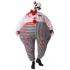Disfraz de Payaso Terrorífico Hinchable #Halloween #Costume