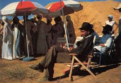 Harrison Ford chilling out behind the scenes on #IndianaJones Raiders of the Lost Ark (1981)