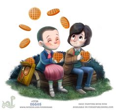 Daily+Painting+1736#+Stranger+Things+-+Eggos+by+Cryptid-Creations.deviantart.com+on+@DeviantArt