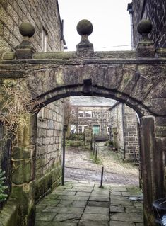 The gateway. Heptonstall. Yorkshire.