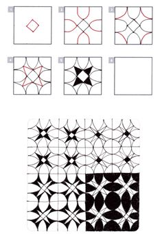 How to draw SPROXY tangle pattern  « TanglePatterns.com