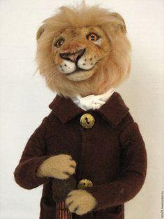 Felted toy lion / Игрушки животные, ручной работы. Ярмарка Мастеров - ручная работа. Купить Лев.Игрушка из шерсти.. Handmade. Игрушка из шерсти, гитара