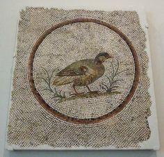 Roman Mosaic. Partridge. Sousse (Hadrumetum), Tunisia.