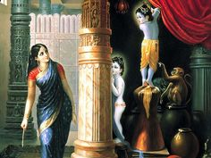 Lord Krishna and his butter stories in Gokulam