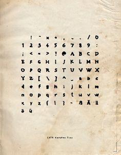 GaraPen Tiny #font | http://www.behance.net/gallery/LSTK-GaraPen-Tiny-FREE-FONT-DOWNLOAD/5556992